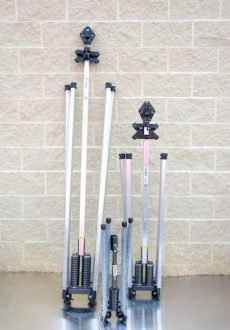 Work Zone Protection, Sign Stands, MDI Wind Master 4860, 5012, 4818 Sign Stands (shown from left to right)