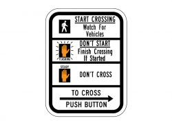 R10-3dR Push Button To Cross