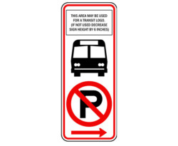 R7-107a No Parking Bus Stop Sign