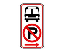 R7-107a(AR) No Parking Bus Stop