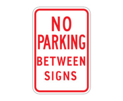 R7-14 No Parking Between Signs