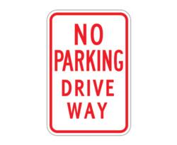 R7-18 No Parking Drive Way