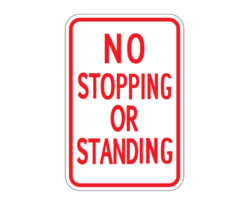 R7-19 No Stopping or Standing