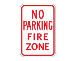 R7-22 (mod) No Parking Fire Zone