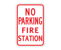 R7-23 No Parking Fire Station