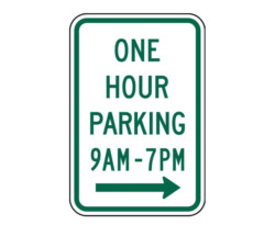 R7-5 One Hour Parking
