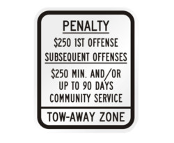 R7-8P Penalty Handicapped Tow-Away