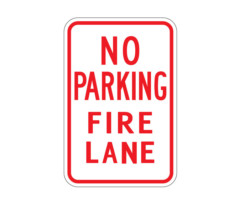 R7-22 No Parking Fire Lane