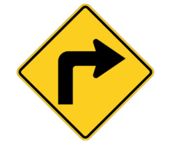 W1-1R Right Turn Arrow