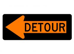Construction Sign M4-10L Detour Left
