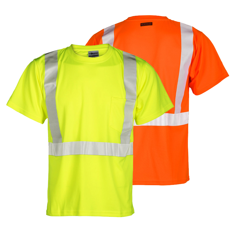 ML Kishigo 9121 Polyester Class 2 T-Shirt with Flat Stitch Panels Orange 2X-Large