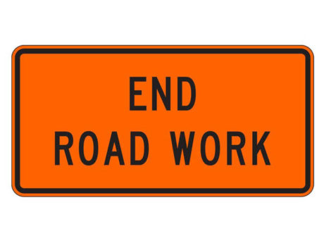Construction Sign G20-2 End Road Work