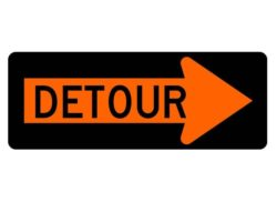 Construction Sign M-410R Detour Right