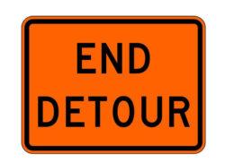 Construction Sign M4-8a End Detour