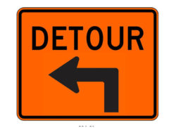 Construction Sign M4-9LX Detour Left