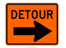 Construction Sign M4-9R Detour Right