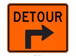 Construction Sign M4-9RX Detour Right