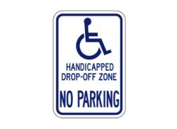 Handicapped Sign R7-126 Drop-Off Zone
