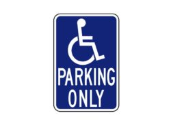 Handicapped Signs R7-128 Parking Only
