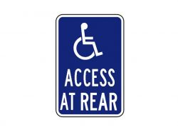 Handicapped Sign R7-129 Access at Rear