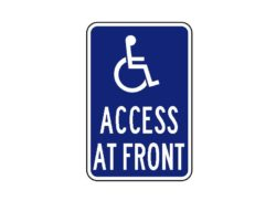 HandicappedSign R7-129 Access at Front