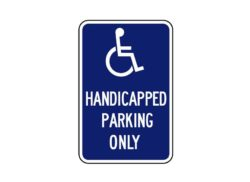 R7-131 Handicapped Parking Only
