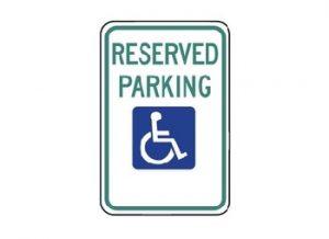 Handicapped Sign R7-8 Reserved Parking