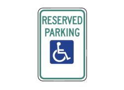 Handicapped Sign R7-8 Reserved Parking