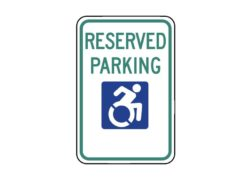 Handicapped Sign R7-8NY Reserved Parking