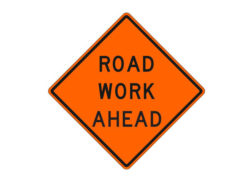 Construction Sign Road Work Ahead
