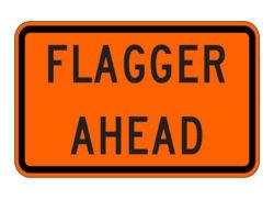 W20-7aP Flagger Ahead