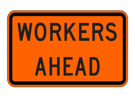 Construction Sign W21-1aP Workers Ahead
