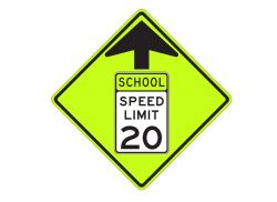 S4-5 School Speed Zone Ahead Sign
