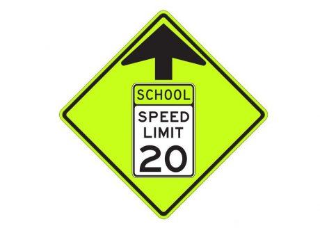 S4-5 School Speed Zone Ahead Sign