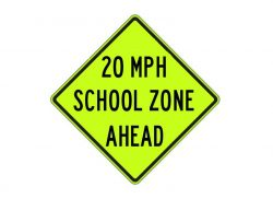 S4-5a School Speed Zone Ahead