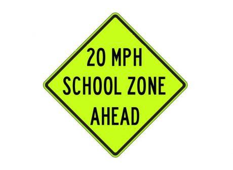 S4-5a School Speed Zone Ahead