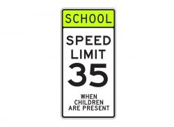 S5-1 School Speed Limit 35 When Children are Present
