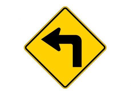 W1-1L Left Turn Symbol