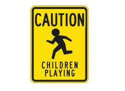 W9-13 Caution Children Playing