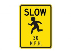W9-14 Slow Children 20 MPH