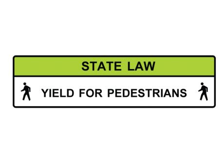 R1-9 State Law Yield for Pedestrians