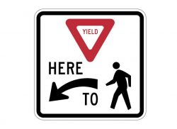 R1-5L Yield To Pedestrians Here