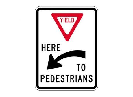 R1-5aL Yield to Pedestrians Left