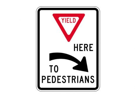 R1-5aR Yield To Pedestrians Right