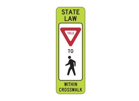 R1-6 Yield to Pedestrian Within Crosswalk