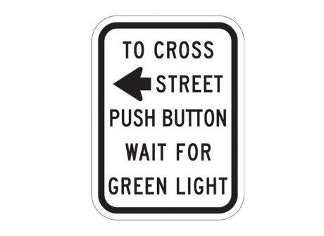 R10-3aL Pedestrian Traffic Signal