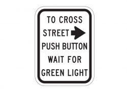 R10-3aR Push Button To Cross