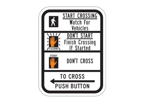 R10-3bL Push Button To Cross (Left)