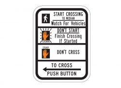 R10-3dL Push Button To Cross