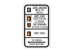 R10-3eL Crossing Sign